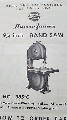 Vintage 1953 Darra-james Band Saw Operating Instructions Tool & Price List !! Cnc, Metalworking & Manufacturing To Prevent And Cure Diseases