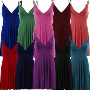 Nouveau-Femme-Curve-Bustier-A-Bretelles-Robe-Patineuse-plongeant-V-Neck-Wrap-Dress-8-22