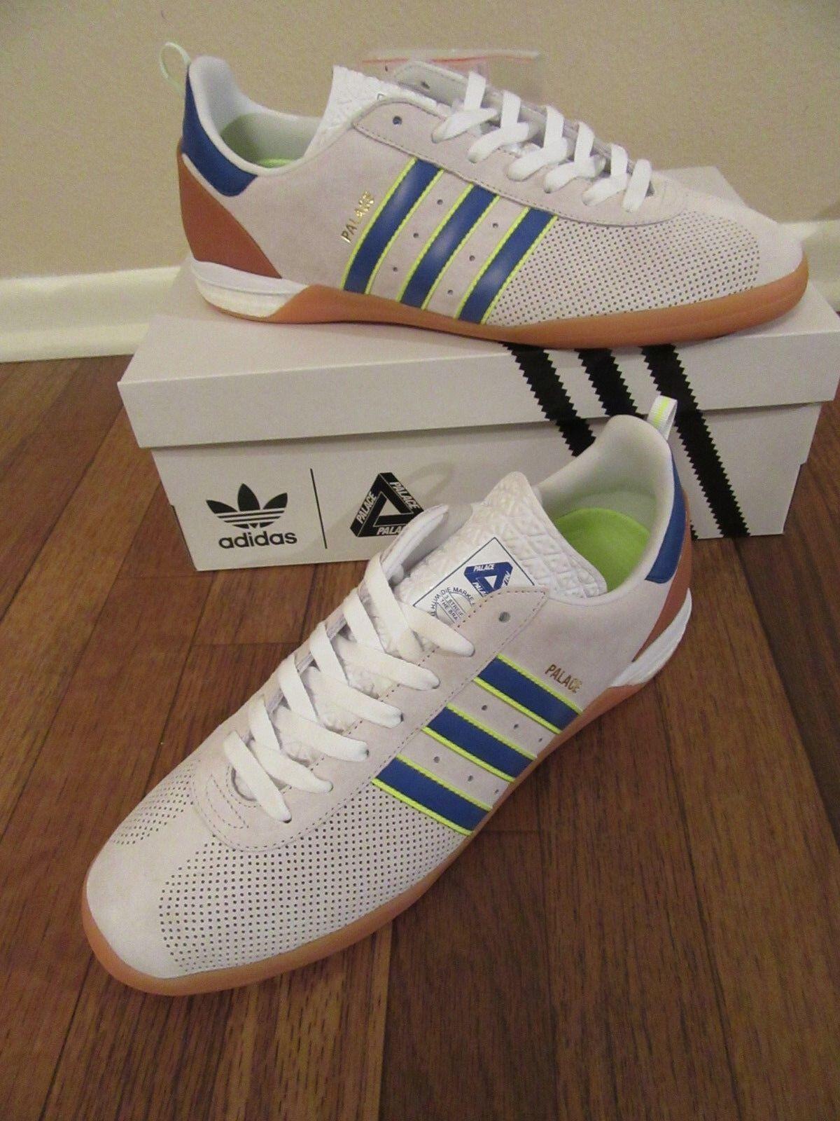 Adidas x Palace Indoor Size 10.5 White Blue Yellow CG3364 Palace London New NIB