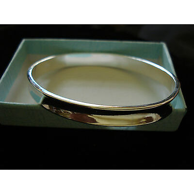 oval silver bangle handmade new for 2017 with free gift bag best on ebay