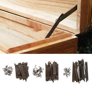 10x Furniture Cabinet Door Hinge Jewelry Box Wardrobe Cupboard Hinge Hardware UK