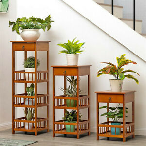 Telephone Table Plant Stand Bedside End Table Hall Lamp Wood Unit Side Drawer