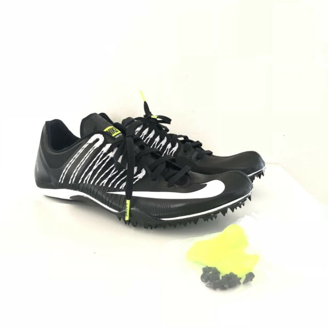 Nike Size 11 With Bag Zoom Celar 5 Track Running Spikes Black White 629226 017