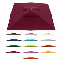 Sonnenschirm Rechteckig Teak- Holzschirm 12m² Sonnendach Uv - Schutz Farbwahl