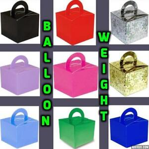 New-10-Cake-Box-Helium-Balloon-Weights-Wedding-Birthday-Weight-Party-baloons-Rl