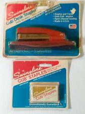 Vintage Swingline Cub Mid Century Modern Art Deco Stapler Amp Cub Staples Box