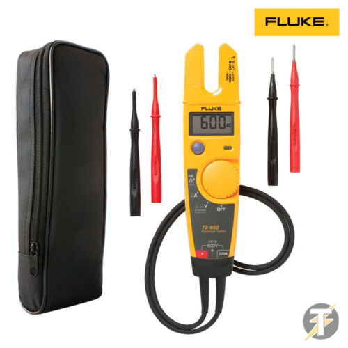 Fluke T5-600 Voltage Continuity Current Tester Genuine UK Edition LDMC1 Case