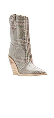 FENDI Cowboy Checked Pattern Ankle Boots