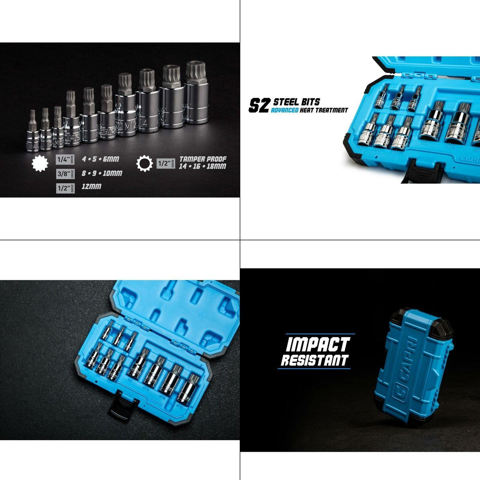 Color : -, Size : - 12 Point MM Triple Square Spline Bit for Tamper-Proof Lug Nuts Cylinder Head Bolt 1//4-Inch 3//8-Inch 1//2-Inch Socket Wrench Sets