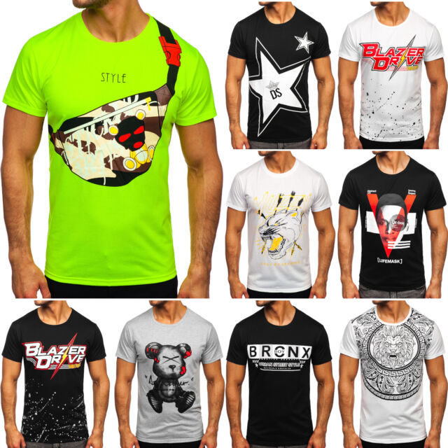 T-Shirt Tee Kurzarm Rundhals Classic Party Camo Army Sport Herren Mix BOLF Motiv