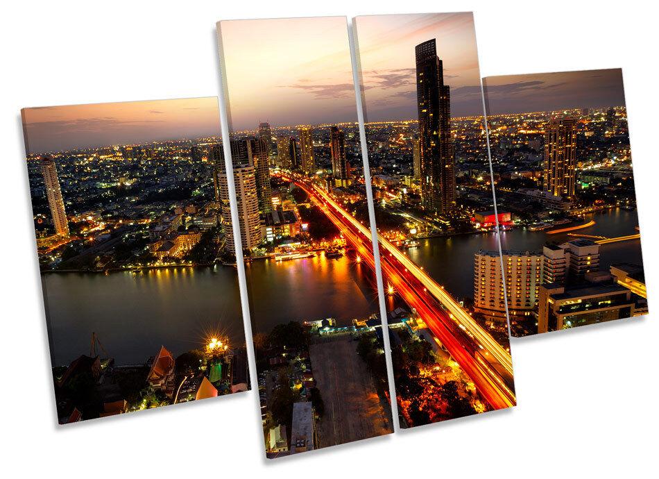 Bangkok Tailandia horizonte de la ciudad Panel de múltiples LONA pa pa LONA rojo  arte Marco de Caja de impresión 36a05a