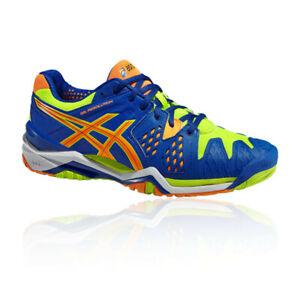 Asics-Homme-Gel-Resolution-6-Cour-Chaussures-Bleu-De-Tennis-Sport-Respirant