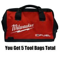 (qty 5) Milwaukee 50-55-3560 18 M18 Fuel Heavy-duty Contractor Tool Bags