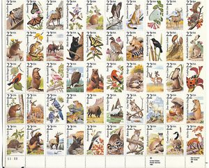 Scott-2286-2335-22-Cent-North-American-Wildlife-Sheet-of-50