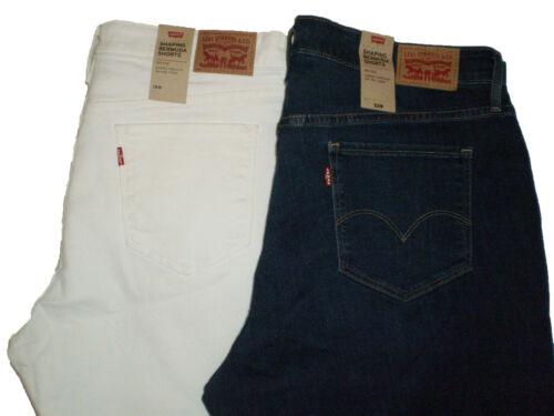 Levi/'s Women/'s Plus Shaping Bermuda Cuffed Denim Shorts Size 18W 20W 22W 24W New