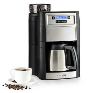 Machine-a-cafe-Verseuse-thermos-Cafetiere-1-25L-broyeur-integre-1000W-Argent