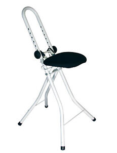 Stehhilfe-Sitzhilfe-Stehsitz-Buegelhilfe-hoehenverstellbar-Stehstuhl-Buegelstuhl
