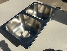 RV CAMPER NEW LASALLE BRISTOL DOUBLE BASIN BOWL SINK STAINLESS STEEL