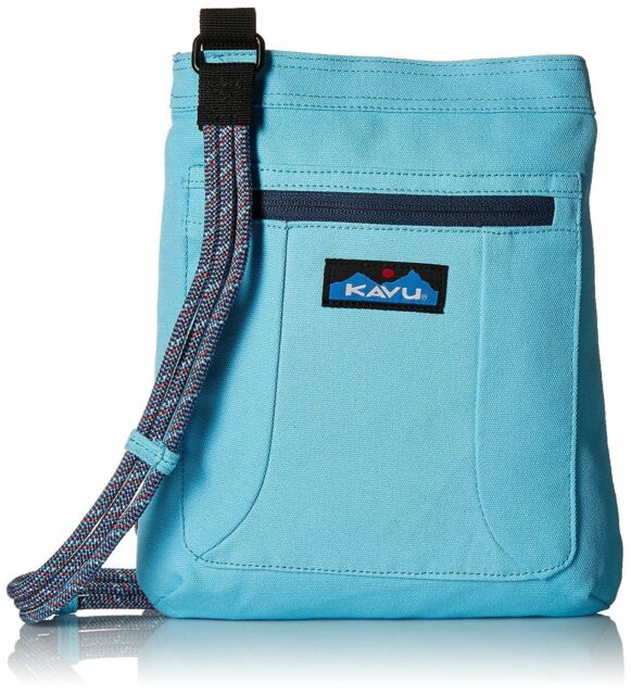 fe03fce7404 Kavu KEEPALONG BAG Shoulder Travel Cotton Canvas Crossbody Bag MALIBLUE NWT!