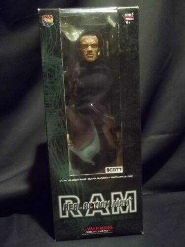 "RARE RAM REAL ACTION MAN 12/"" SCOTT FIGURE NIB MEDICOM AD2000 THE CRO-MAGNONS"