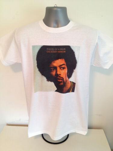 GIL SCOTT HERON T-SHIRT Pieces of a Man Soul Funk Jazz pioneer