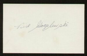 Bill Gogolewski signed autographed 3x5 index card F2030
