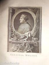 Original Georgian Portrait Engraving of Cardinal Wolsey c1775 Religion/Christian