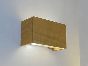 Plafoniere Da Parete In Legno : Applique lampada da parete moderna in legno rovere naturale ebay