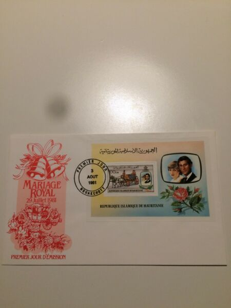 CoopéRative Mauritanie Timbres 1981 Fdc Mariage Royal Minisheet