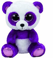 Ty Boom Boom the Purple Panda Bear Beanie Boos Stuffed Animal Plush Toy