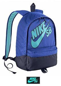 f02108a04069 Image is loading New-Nike-Skateboard-Embarca-Backpack-Bag-Medium-Blue-