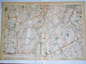 Details about 1904 Original Map Towns of Norfolk & Middlesex Counties on map of rockingham county nh towns, map of middlesex county ma towns, map of cape cod ma towns, map of litchfield county ct towns,