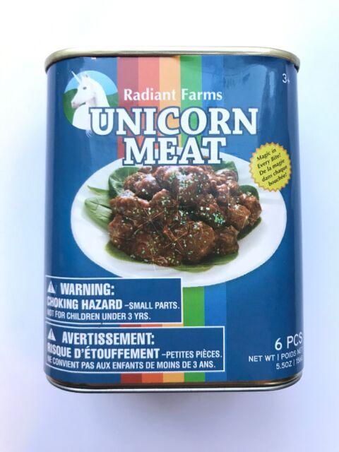 Radiant Farms Unicorn Meat Magic Stuffed Can Food Discontinued Think Geek