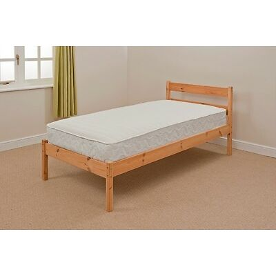 4ft6 Double Pine Value Bed in White or Natural Pine Abi with or without Mattress