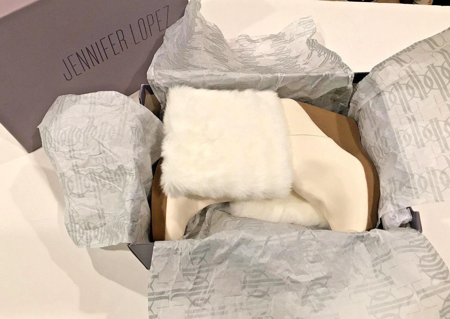 Jennifer lopez womens wedge boots size 8 alpina cream euc