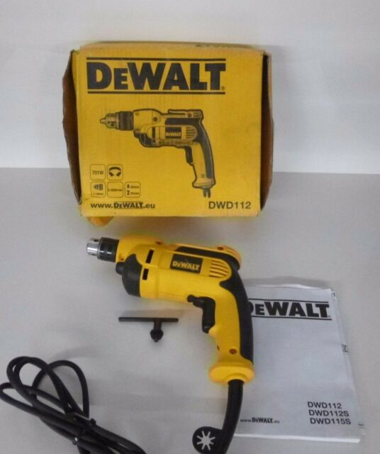DEWALT 3//8 in 0-2,500 RPM 7.0 Amp VSR Pistol Grip Drill DWD112 New