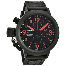 U-Boat Flightdeck Black Dial Automatic Mens Chronograph Watch 5412