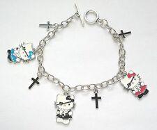 Hello Kitty cute gothic lolita halloween charm cross chain pirate goth Bracelet