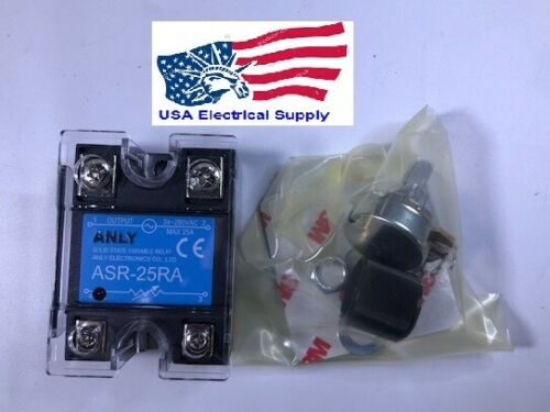 New Variable Solid state Relay Whith Potentiometer ASR-25RA 25Amp.