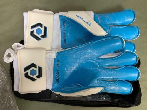Prime Focus Pivot Size 9 Blue Soccer Goalie Goal Keeper Keeping Gloves $59