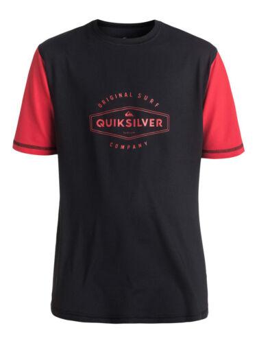 QUIKSILVER BOY T SHIRT.LAST CALL UPF50 SUN PROTECTION RASH VEST TOP 7S//21//KVJO