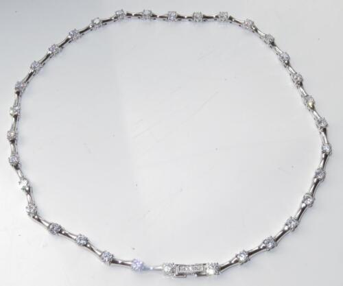 LO2709 16 pulgadas Collar de tenis solitarios todo diamantes simulados Calidad