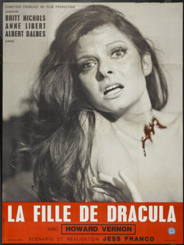 La fille de Dracula Dracula/'s daughter Howard Vernon Horror movie poster