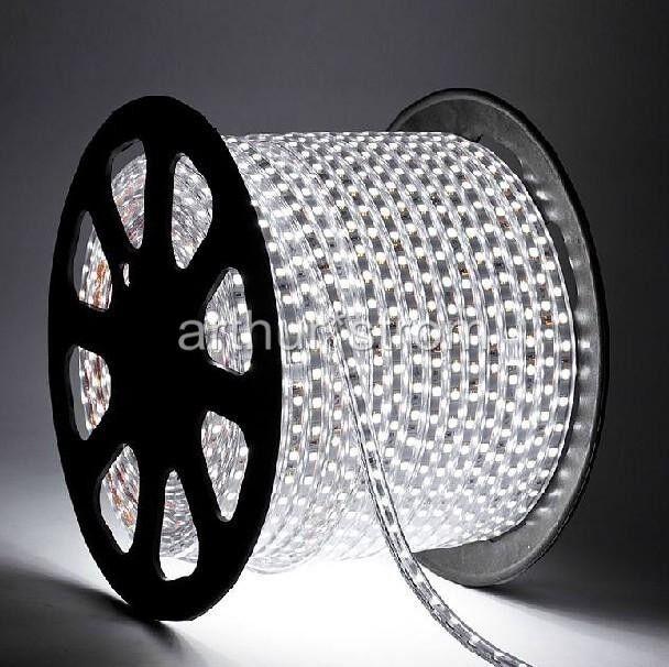 1-20M 220V White SMD 3528 Flexible LED Strip Lights 60LEDs / Meter Waterproof