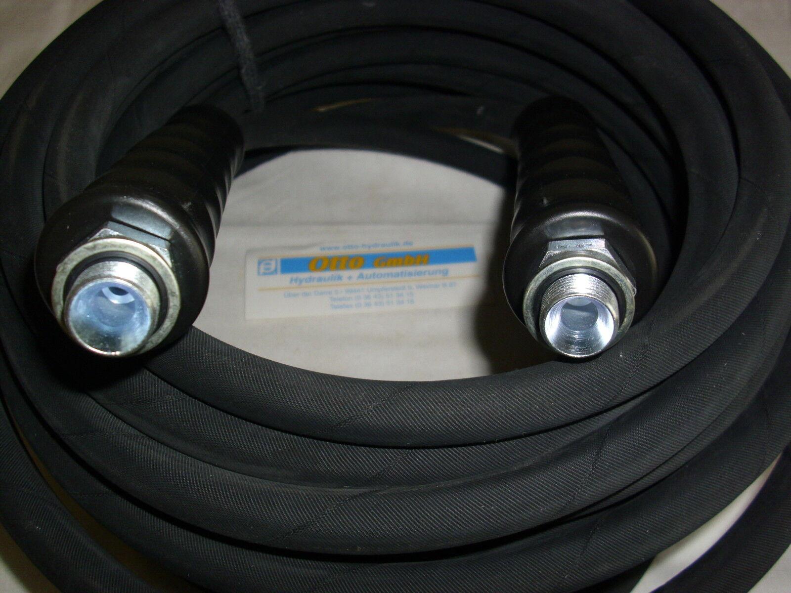 15m Profi Schlauchleitung mit 2 x 3 8  HD - Schlauch DN 8 400 bar 150°C  3 8 AG