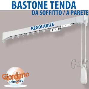 Bastone tenda allungabile con binario varie misure da soffitto e a parete ebay - Tende a binario ikea ...