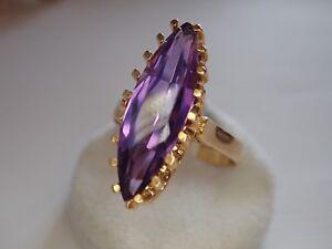 bague or pierre violette