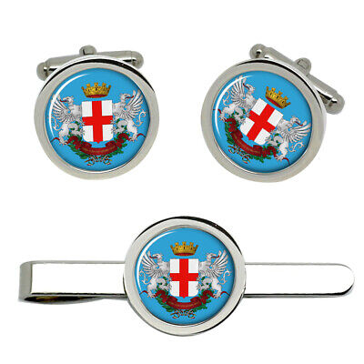 Select Gifts Guinea Flag Cufflinks Engraved Tie Clip Matching Box Set