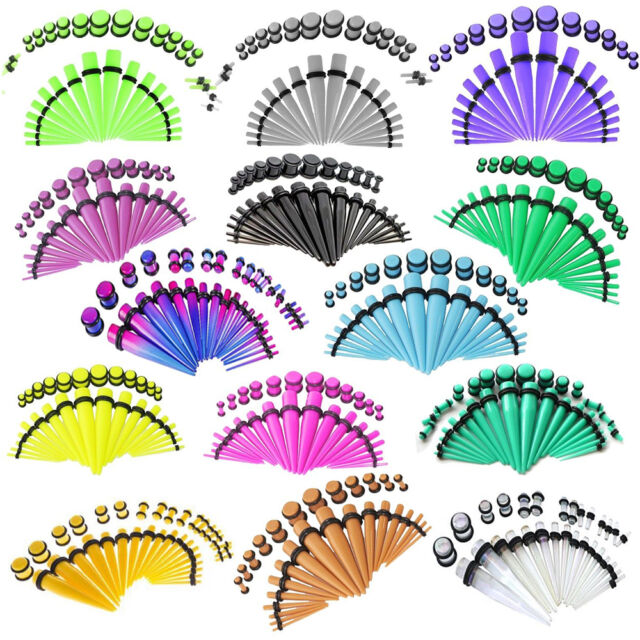 BodyJ4You Gauges Taper Kit Plug 14G-00G Ear Gauges Stretching Body Jewelry Set