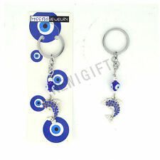 Good Luck Blue Evil Eye Hand Protection Blessing Key chain Dolphin Key Ring